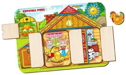 Развивающая игрушка Woodland Бизиборд Курочка Ряба 112105