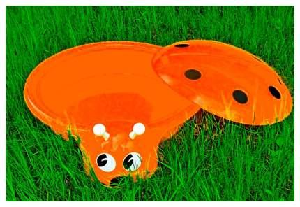 Песочница- бассейн Божья Коровка оранжевый 92 см С 203