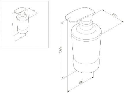 Диспенсер для жидкого мыла AM.PM Sensation A3031900 Отдельно стоящий