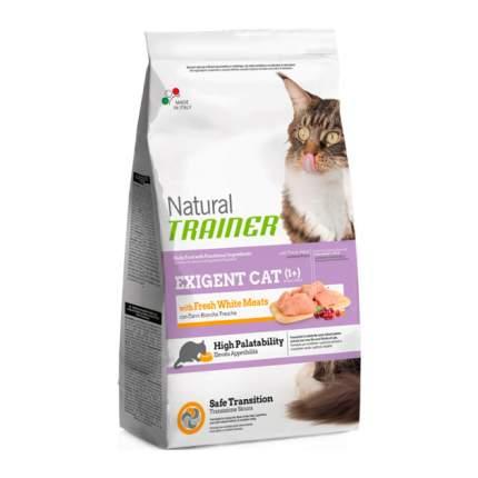 Сухой корм для кошек TRAINER Natural Exigent, для привередливых, свежее белое мясо, 1,5кг
