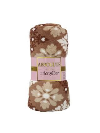 Плед Absolute trc550836 Цветы-ромбики 150x200 см, бежевый/коричневый