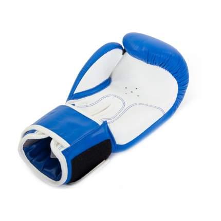 Боксерские перчатки Jabb JE-2014 бело-синие 12 унций