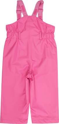 Брюки на лямках для девочки Barkito розовые р.80