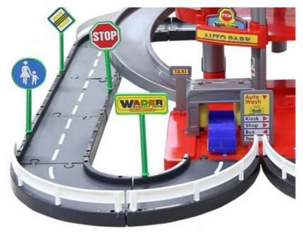 Паркинг Wader 4-уровневый с дорогой и автомобилями 44723