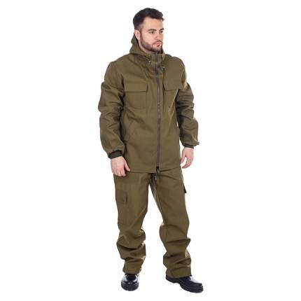 Куртка для рыбалки Huntsman Тайга, хаки, 52-54 RU, 178-186 см