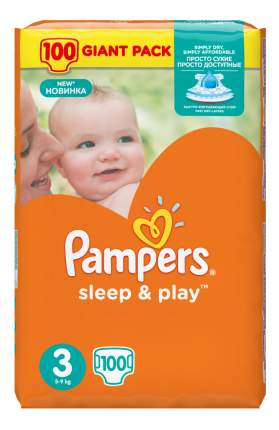 Подгузники Pampers Sleep & Play 3 (5-9 кг), 100 шт.