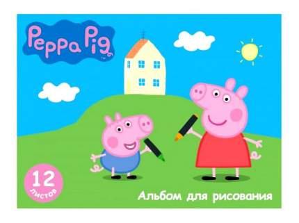 Альбом для рисования 12 листов свинка пеппа