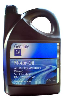 Моторное масло GM Motor Oil Semi Synthetic SAE 10W-40 (5л)