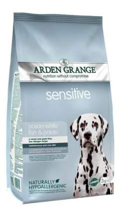 Сухой корм для собак Arden Grange Sensitive, рыба, овощи, 12кг