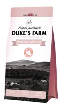 Сухой корм для кошек DUKE'S FARM Sterilised, для стерилизованных, индейка, кролик, 2кг
