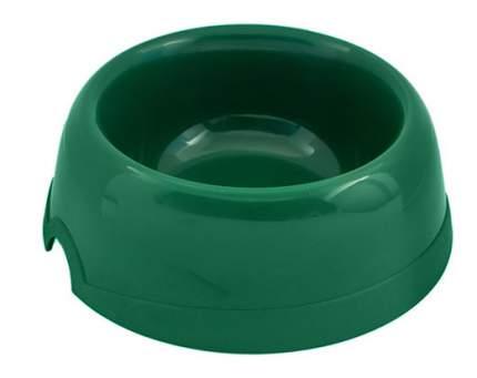 Одинарная миска для кошек и собак Хорошка, пластик, зеленый, 0.1 л