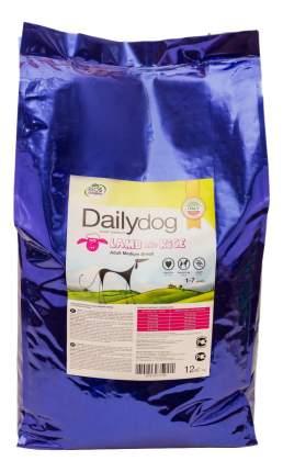 Сухой корм для собак Dailydog Adult Medium Breed, для средних пород, ягненок и рис, 12кг