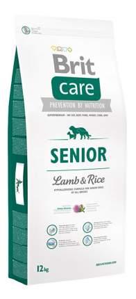 Сухой корм для собак Brit Care Senior All Breed, пожилых всех пород, ягненок и рис, 12кг