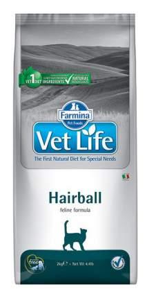 Сухой корм для кошек Farmina Vet Life Hairball, для выведения шерсти, курица, 10кг