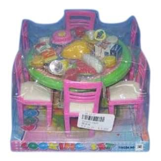 Набор для кукол Shantou стол, стулья и продукты