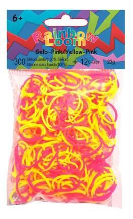 Плетение из резинок Rainbow Loom Silicone Bands - Yellow/pink