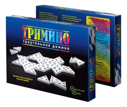 Семейная настольная игра Бэмби Тримино треугольное домино 7059