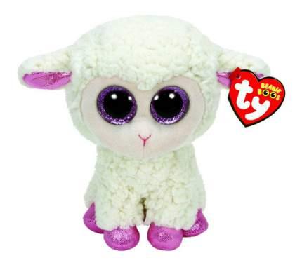 Мягкая игрушка TY Beanie Boos Овечка (белая с розовыми копытцами) 15 см