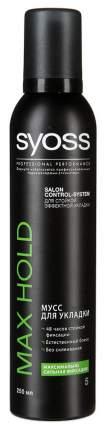 Мусс для волос SYOSS Max Hold Максимально сильная фиксация 250 мл