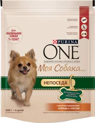 "Сухой корм для собак Purina One Мини ""Моя Собака... Непоседа"", курица, рис, 0.6кг"