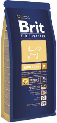Сухой корм для собак Brit Premium Adult M, для средних пород, курица, 3кг