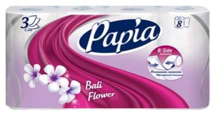 Туалетная бумага Papia Bali Flower 3-ех слойная 8 шт.