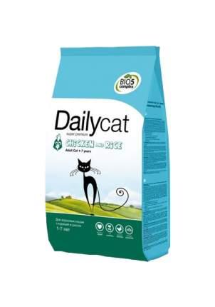 Сухой корм для кошек Dailycat Adult, курица и рис, 0,4кг