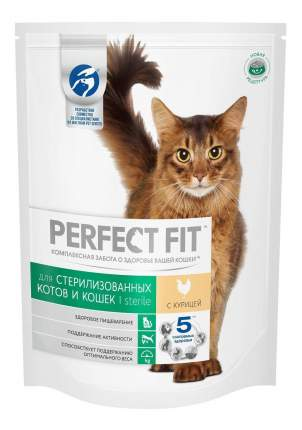 Сухой корм для кошек Perfect Fit Sterile, для стерилизованных, курица, 10шт по 650г