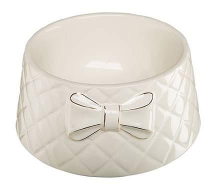 Одинарная миска для кошек и собак Ferplast, керамика, белый, 0.7 л