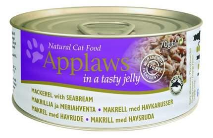 Консервы для кошек Applaws, скумбрия, морской окунь, 70г
