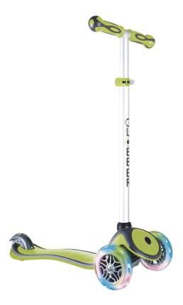 Самокат трехколесный Globber Primo Plus Lights со светодиодными колесами зелёный