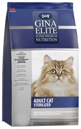 Сухой корм для кошек GINA Elite Sterelized, для стерилизованных, домашняя птица, 15кг