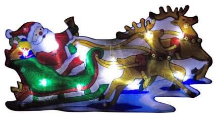 Световое панно ВОЛШЕБНАЯ СТРАНА Дед мороз в упряжке 986100