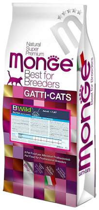 Сухой корм для кошек Monge Bwild, анчоус, 10кг