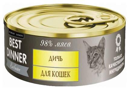 Консервы для кошек Best Dinner Exclusive, дичь, 100г
