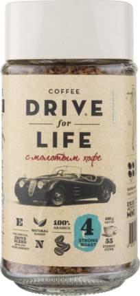 Кофе растворимый Drive for Life strong roast с молотым 100 г