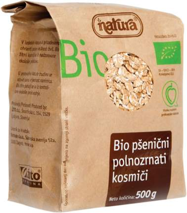 Хлопья пшеничные Natura цельнозерновые органические 500 г