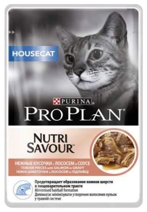 Влажный корм для кошек PRO PLAN Nutri Savour Delicate, лосось, 24шт, 85г
