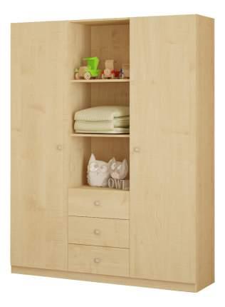 Детский шкаф трехсекционный Polini Simple, натуральный
