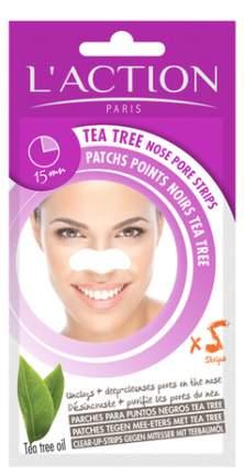 Очищающее средство L'Action Tea Tree Nose Pore Strips