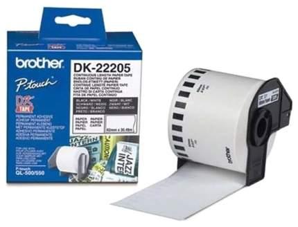 Бумажная клеящаяся лента Brother DK22205