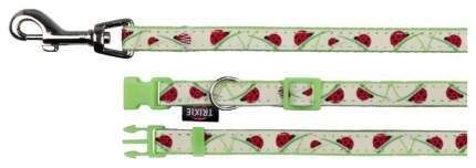 Ошейник  с поводком для собак TRIXIE Collar, XS-S, зеленый