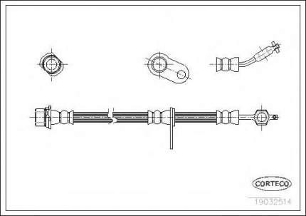 Шланг тормозной системы Corteco 19032514