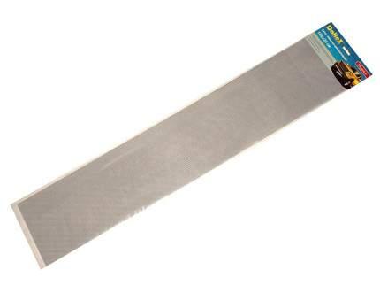 Сетка в бампер автомобиля 100х20см, серебро, Алюминий ячейки 6х3,5мм Dollex DKS-002