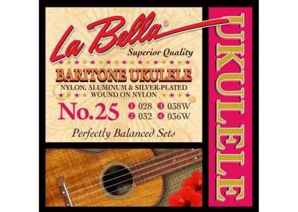 Струны для укулеле баритон LA BELLA 25