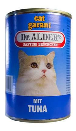 Консервы для кошек Dr. Alder's cat Garant, с тунцом в соусе, 24шт по 415г