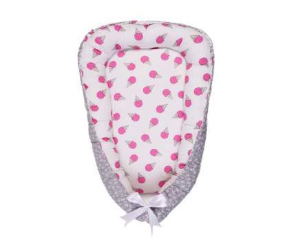 Подушка-Позиционер для сна AmaroBaby кокон-гнездышко, LITTLE BABY Мороженки