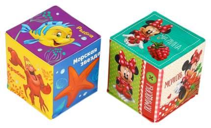 Мягкие кубики Учим овощи-фрукты и морских жителей (набор 2 шт) Disney