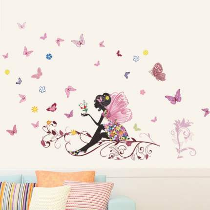 Наклейки на стену Фея бабочек 50х70 см Animal World