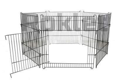Вольер для собак, щенков ROKLET 60, складной, с дверью, черный, 6 секций по 60х60 см
